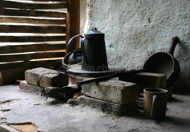 Poêle rural photographie stock