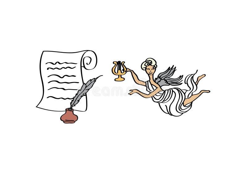 poëzie stock illustratie