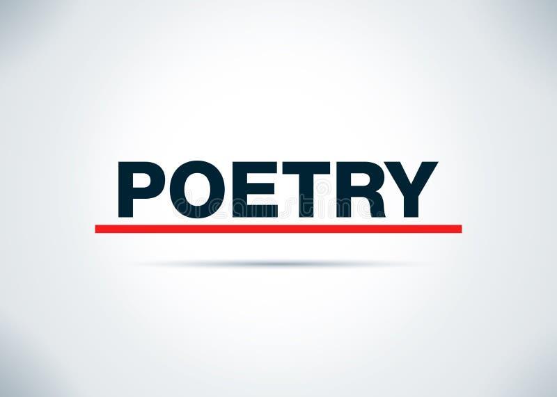 Poëzie Abstracte Vlakke Achtergrondontwerpillustratie stock illustratie