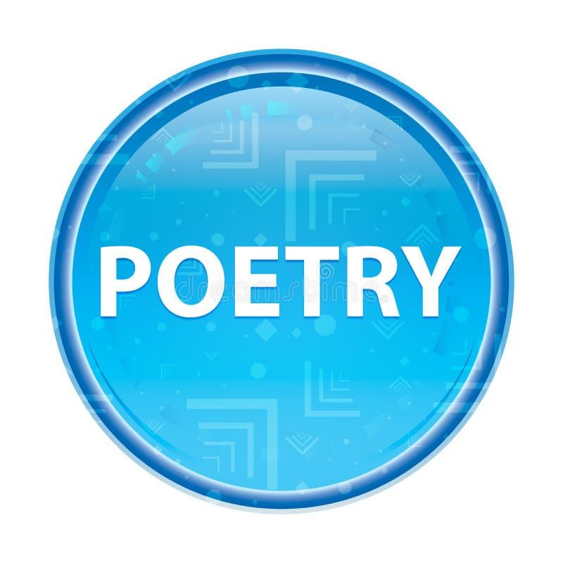 Poëzie bloemen blauwe ronde knoop royalty-vrije illustratie