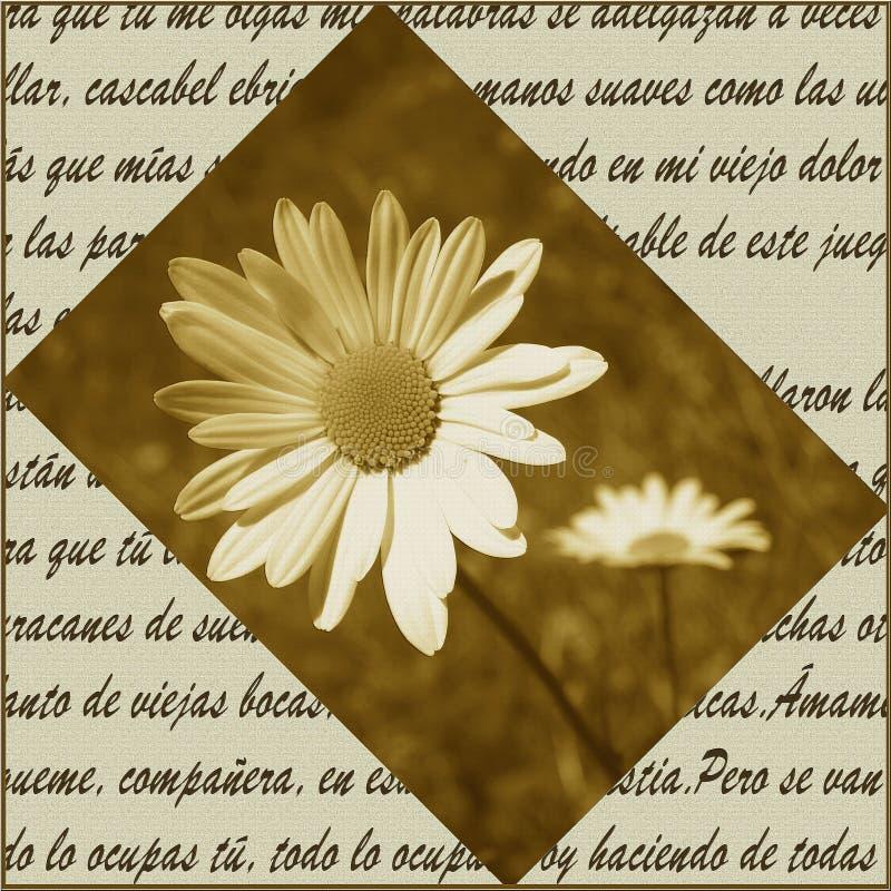 Poëzie en bloemen vector illustratie