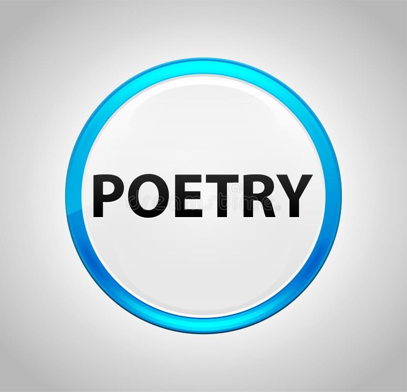 Poëzie om Blauwe Drukknop vector illustratie