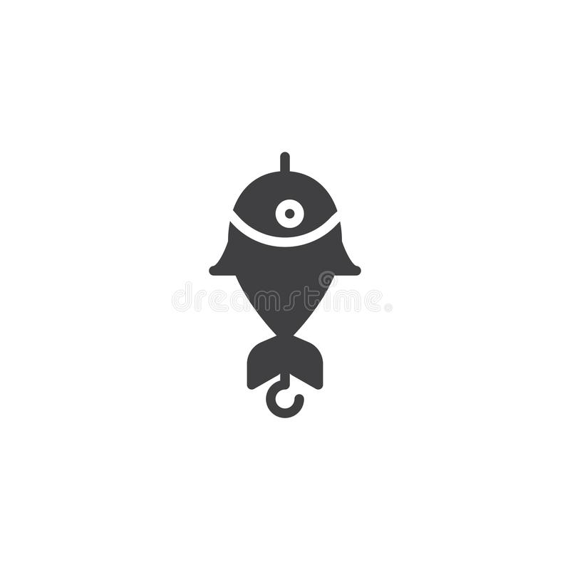 Połów wabije wektorową ikonę royalty ilustracja