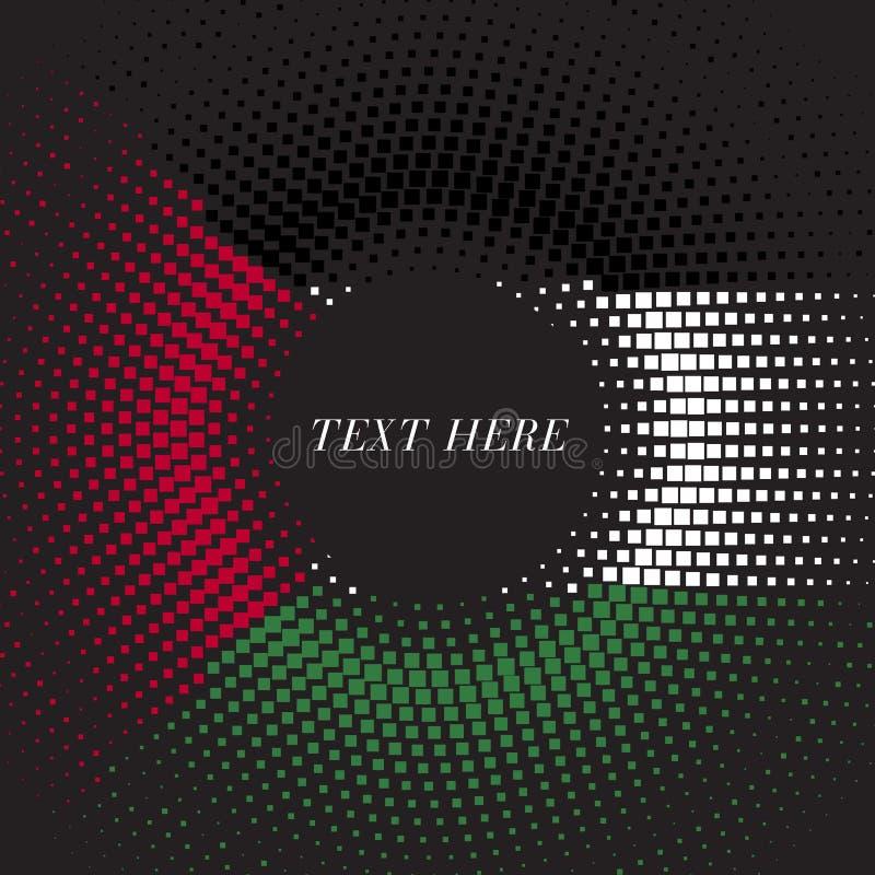 Połówka - brzmienie szablonu Palestyna kwadratowa round gradientowa flaga ilustracji