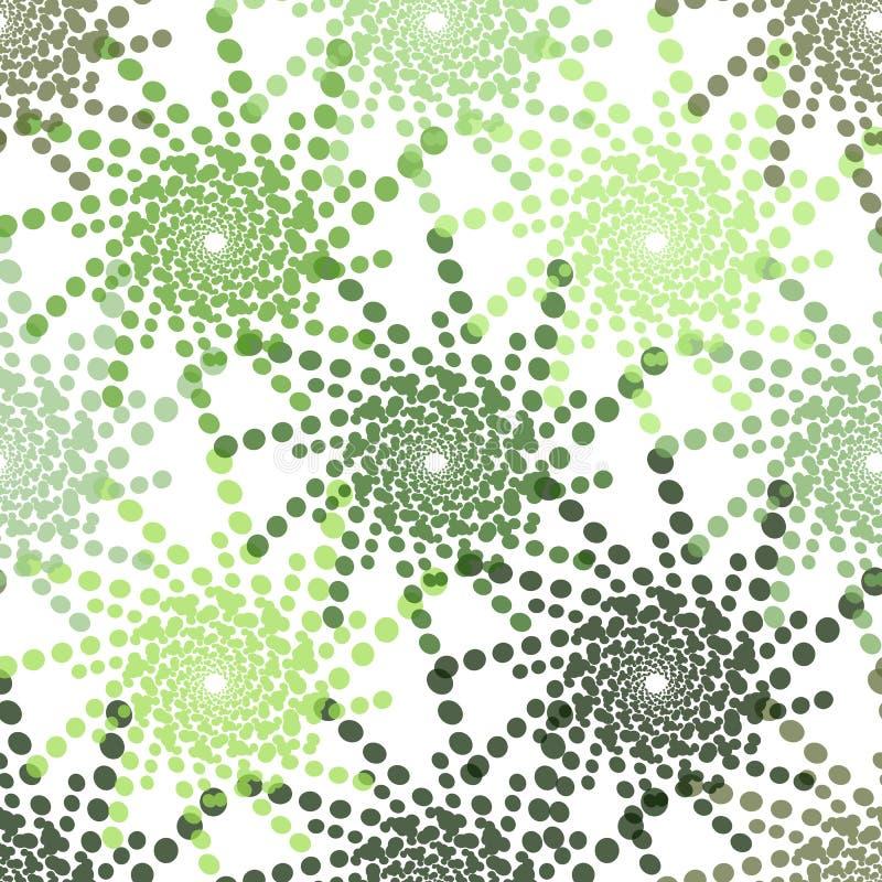 Połówka - brzmienie wzór z kropkami W zieleni - Monochromatyczna halftone tekstura ilustracja wektor