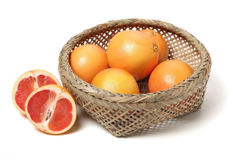 Połówka i plasterek krwionośna czerwona pomarańczowa cytrus owoc zdjęcia stock