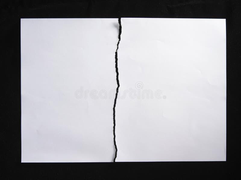 połówki papieru łza zdjęcia royalty free