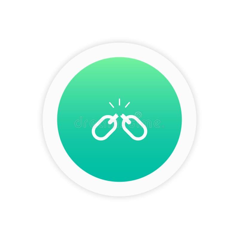 Połączenie łamająca ikona ilustracja wektor