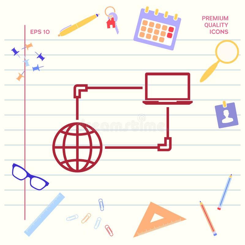 Połączenie z internetem, dane wymiana, przeniesienia pojęcia ikona Graficzni elementy dla twój projekta ilustracja wektor