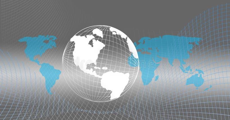 Połączony w sieci globalny świat obraz stock