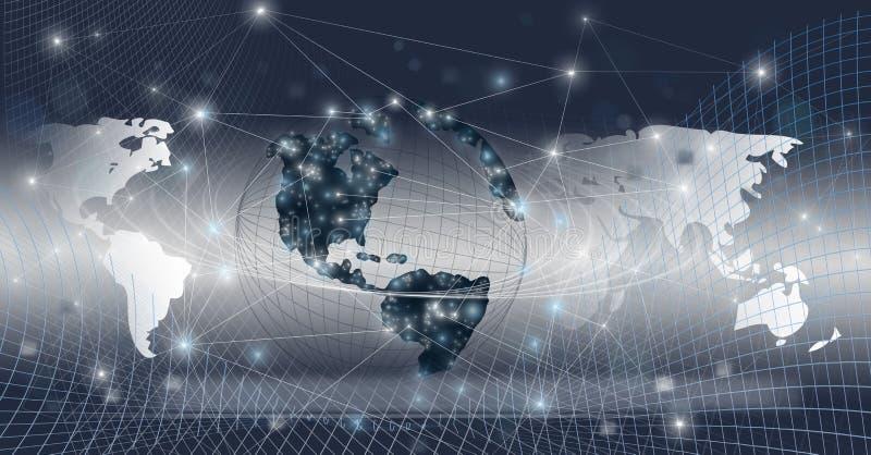 Połączony w sieci globalny świat zdjęcia stock