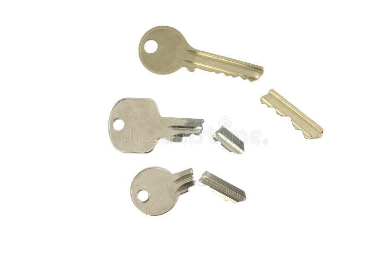 połamane różnych kluczy 3 zdjęcie stock