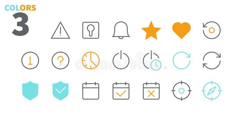 Położeń UI piksla wektoru Perfect Wykonywać ręcznie Cienkie Kreskowe ikony 48x48 Przygotowywać dla 24x24 siatki dla sieci grafika ilustracji