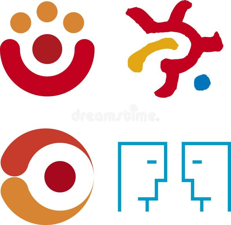 położenie logo ludzkich royalty ilustracja