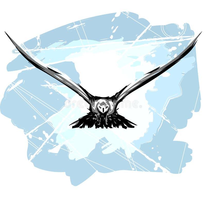 położenie ptaki ilustracja wektor