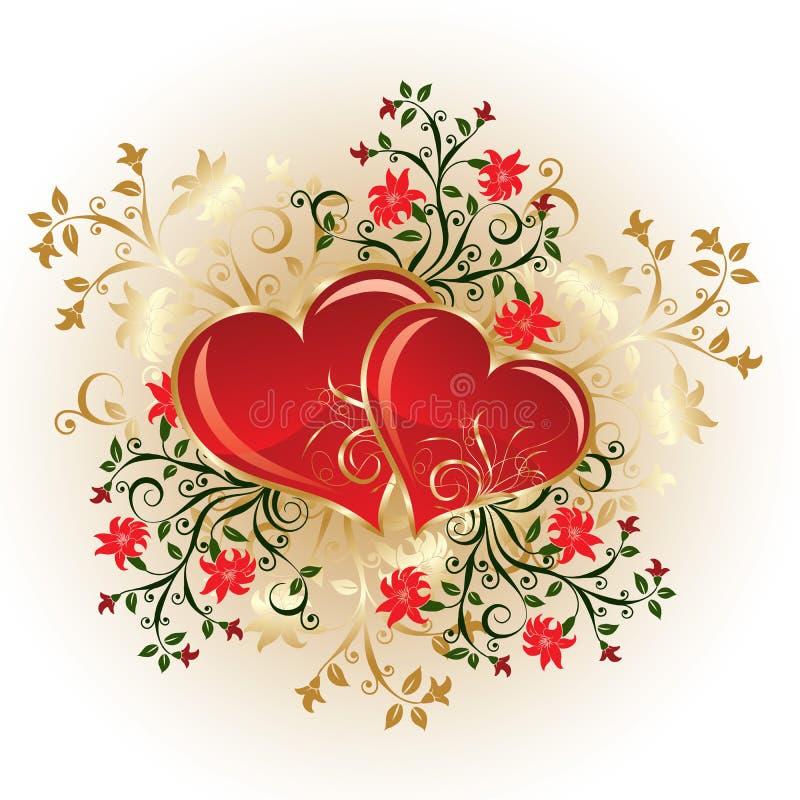 położenie valentines tło ilustracja wektor