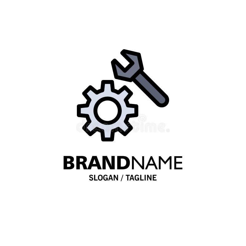 Położenie, wyrwanie, przekładnia logo Biznesowy szablon p?aski kolor ilustracji