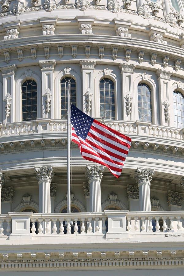 połowa bandery maszt, fotografia stock