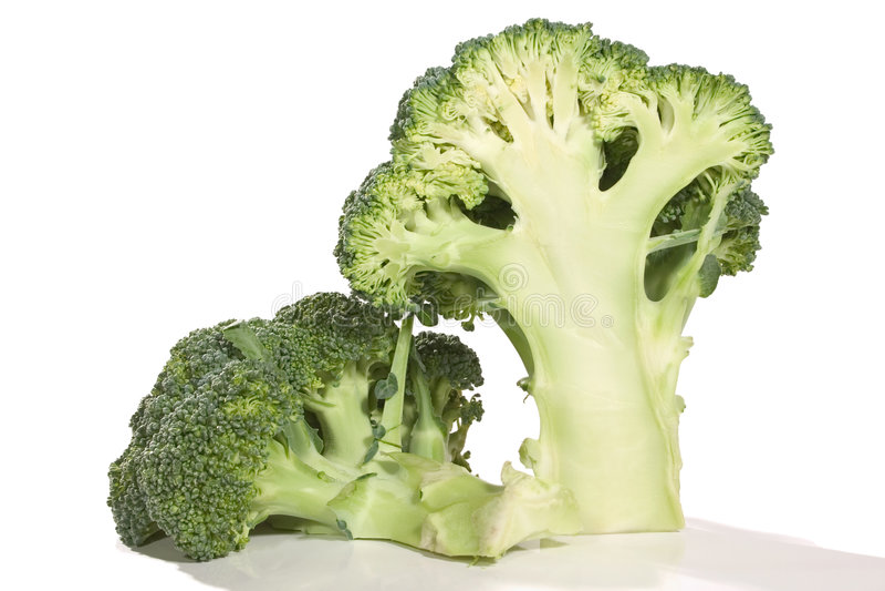 połowa brocolis 2 fotografia royalty free