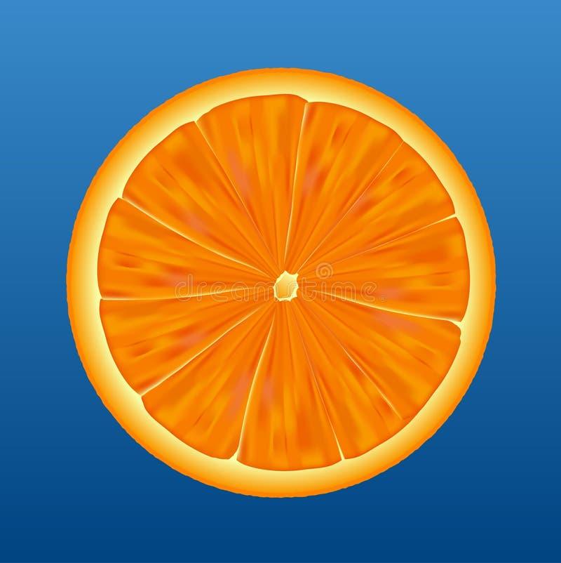 połowa pomarańczowy wektora ilustracja wektor