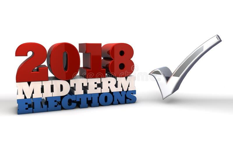 2018 połowa semestru wybory ilustracja wektor