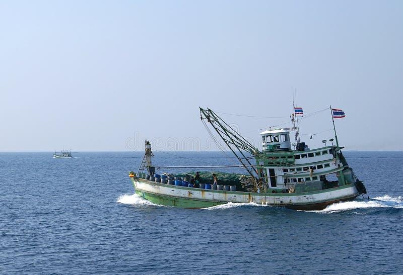 połowowych łodzi obraz stock