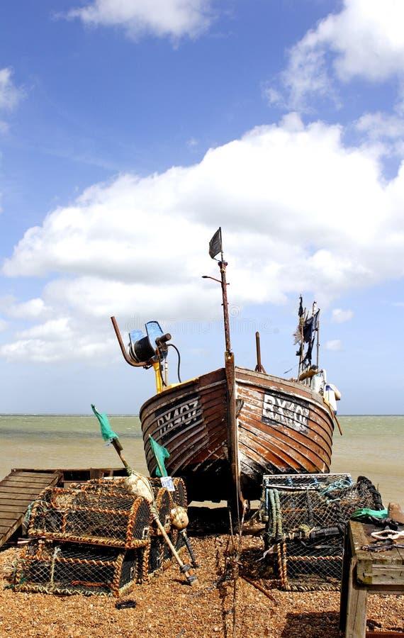 połowowych łodzi fotografia royalty free