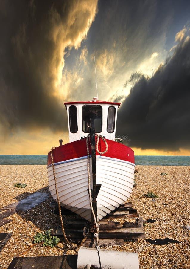 połowu łódkowaty czekanie obrazy stock