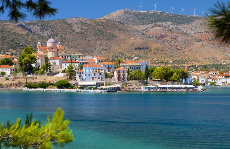 połowu galaxidi Greece wioska obraz royalty free