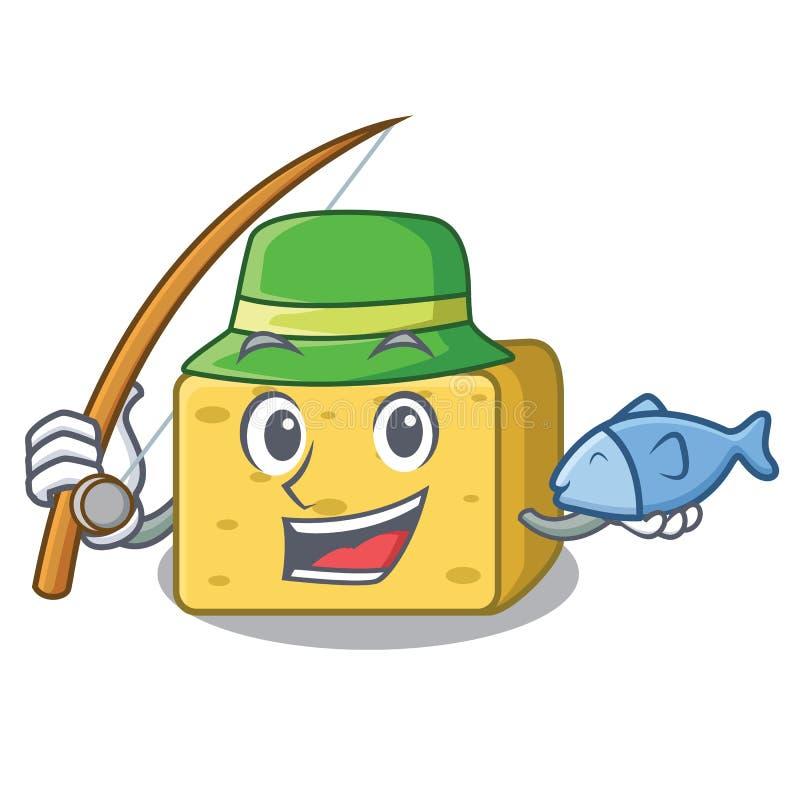 Połowu gouda ser składa kreskówkę ilustracji