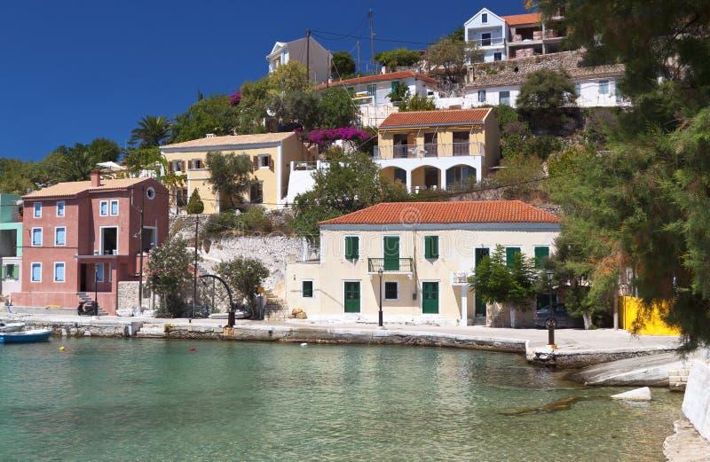 połowu Greece tradycyjna wioska fotografia stock