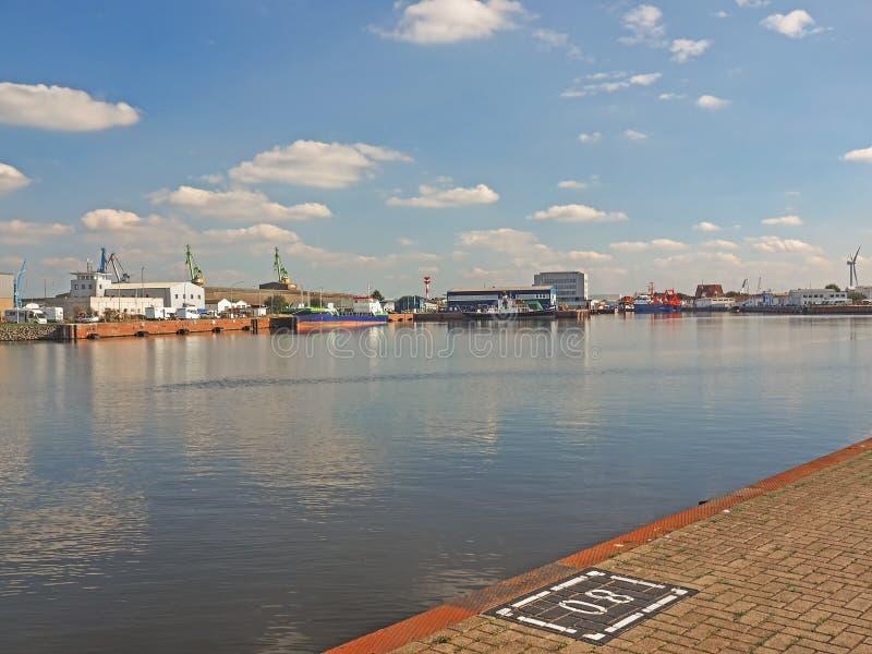 Połowu port miasto Bremerhaven, Niemcy obraz royalty free