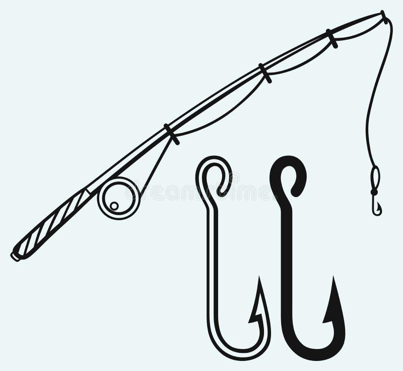 Połowu prącie i połowu haczyk royalty ilustracja