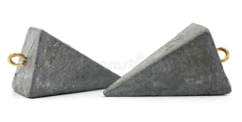 połowu sinkers dwa zink zdjęcie stock