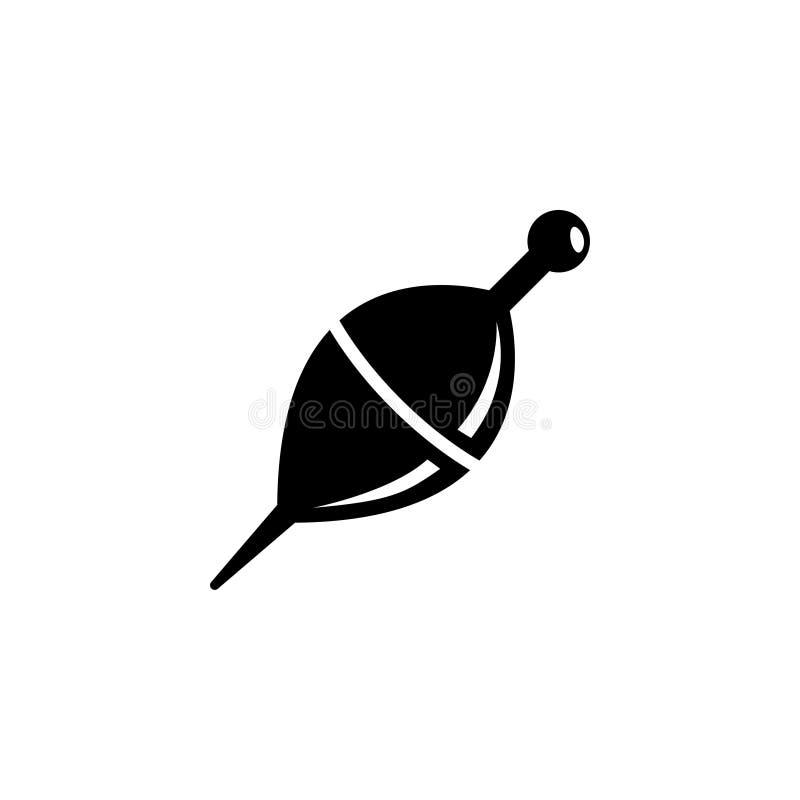 Połowu sprzęt, Pływakowego Bobber Płaska Wektorowa ikona royalty ilustracja
