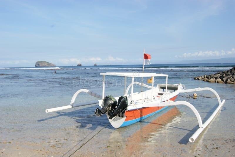 Połowu Trimaran w Bali, Indonezja zdjęcie royalty free