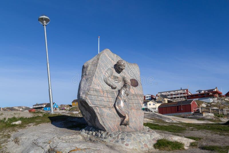 Połowu zabytek w Ilulissat, Greenland fotografia stock