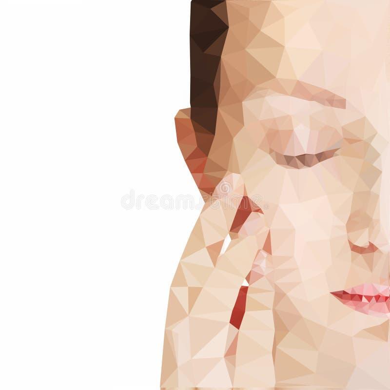 połowy twarzy kobiety ilustracja wektor