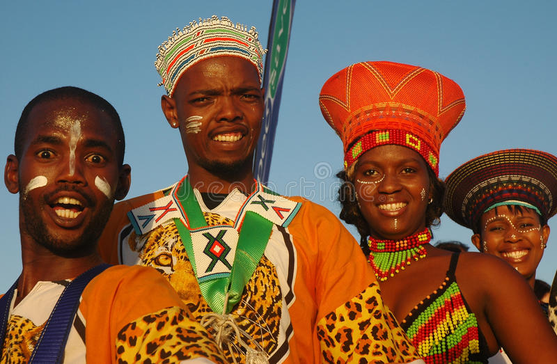 Południe - afrykańscy tradycyjni ludzie zdjęcie royalty free