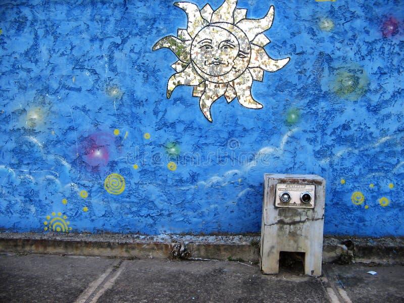 Południe - amerykańska uliczna sztuka, Guayana miasto, Wenezuela obraz stock