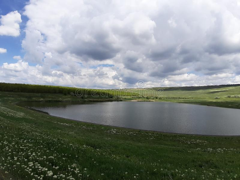 Południk jezioro obraz stock