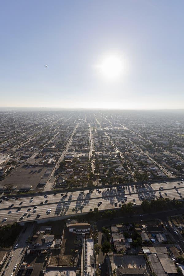 Południowa Środkowa Los Angeles 110 autostrady antena obrazy royalty free