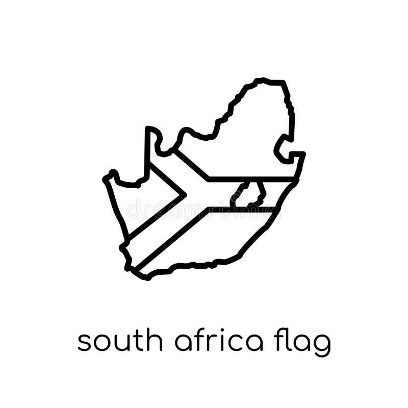 Południowa Afryka flaga ikona  ilustracja wektor
