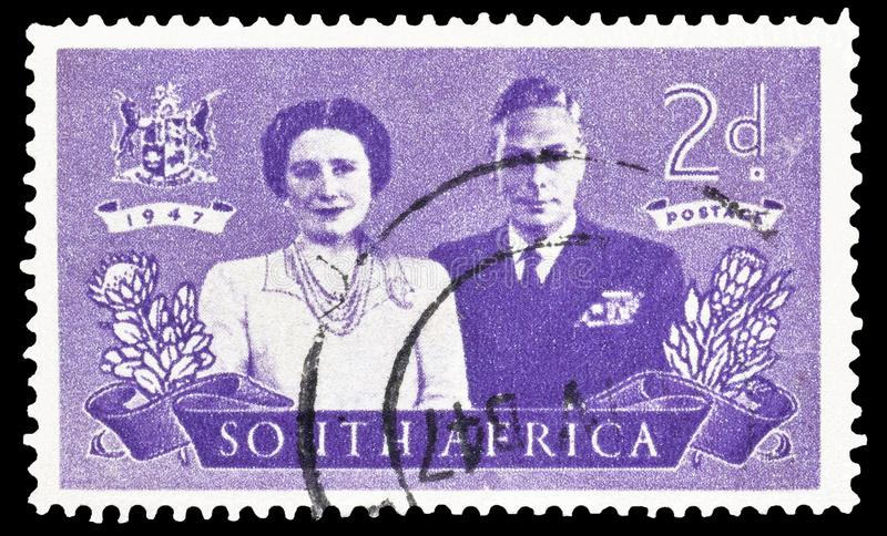 Południowa Afryka na znaczkach pocztowych obrazy royalty free