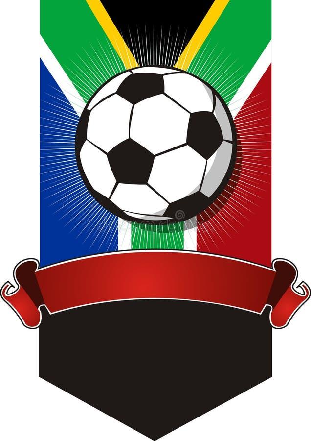 Południowa Afryka Piłki nożnej Mistrzostwa sztandar ilustracji
