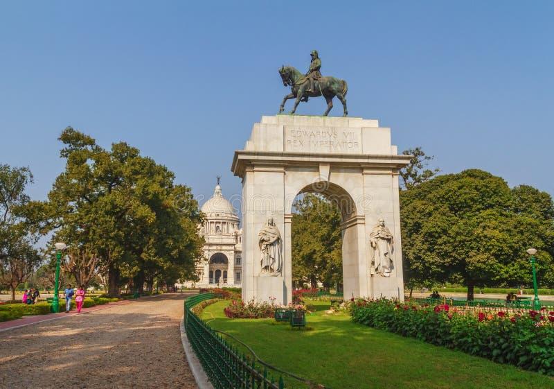 Południowa brama Wiktoria pomnik przy Kolkata fotografia royalty free