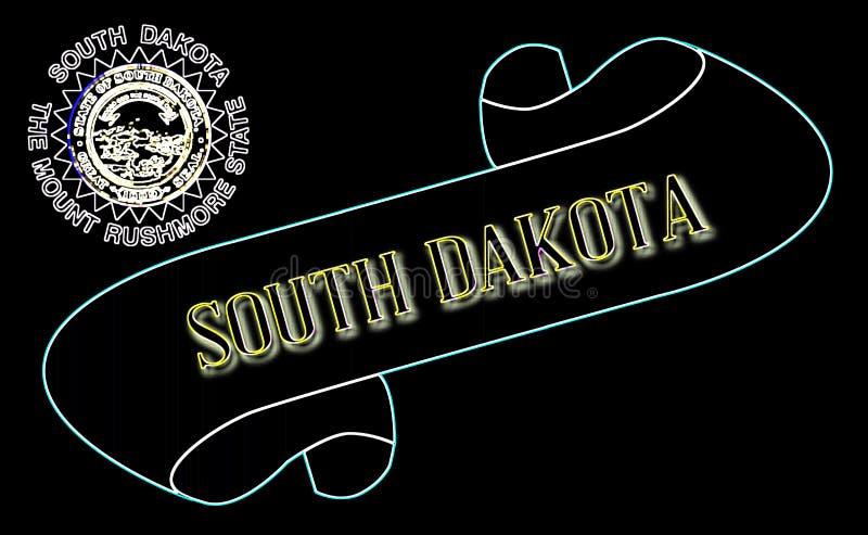 Południowa Dakota ślimacznica ilustracji