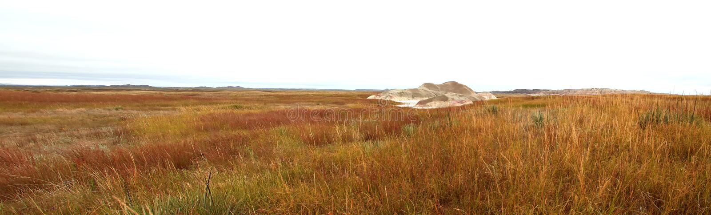 Południowa Dakota preria z popiółów wzgórzy panoramą zdjęcia stock
