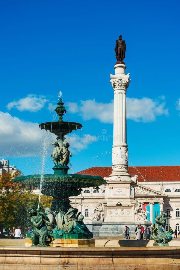 Południowa fontanna w Lisbon, Portugalia fotografia stock