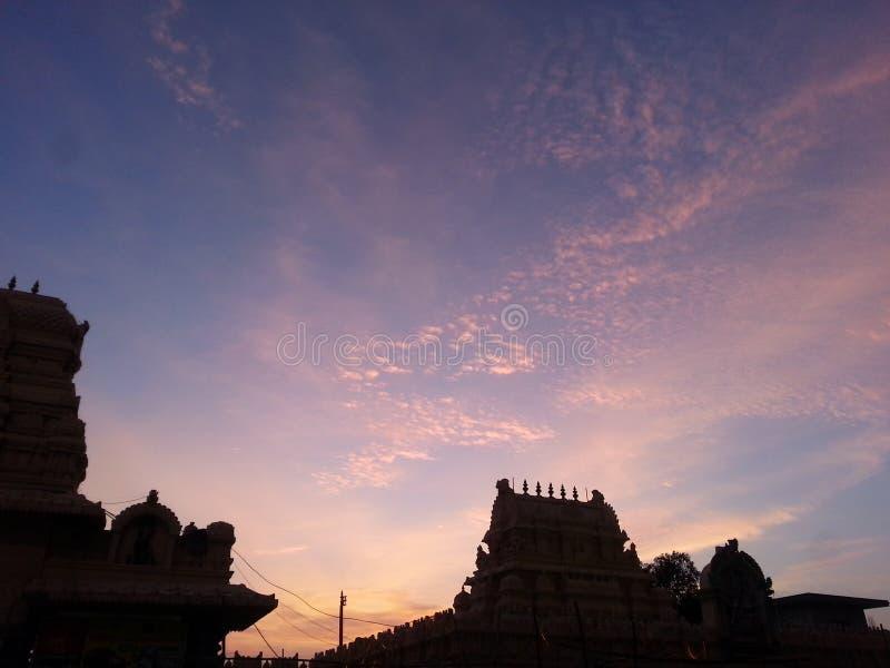 Południowa indyjska świątynia w telangana, warangal okręg obraz royalty free